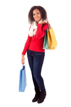 Young and beautiful woman with shopping bags Stock Photo - 16547914