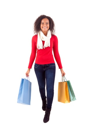 Young and beautiful woman with shopping bags Stock Photo - 16547966