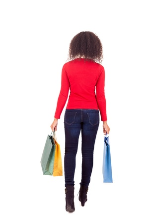 Young and beautiful woman with shopping bags Stock Photo - 16547956