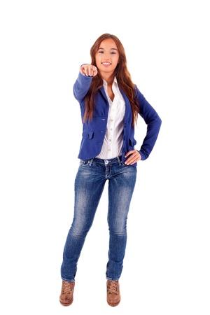 Beautiful young asian business woman expressing positivity Stock Photo - 16752871