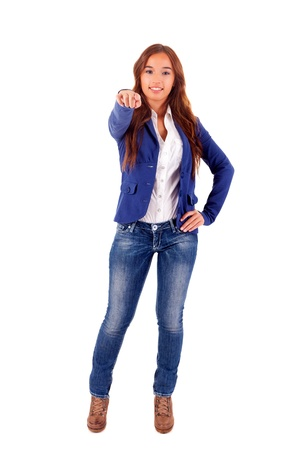 Beautiful young asian business woman expressing positivity Stock Photo - 16752925