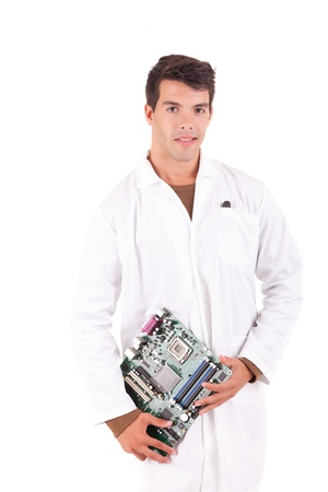 Happy and successful young computer engineer Stock Photo - 16796248
