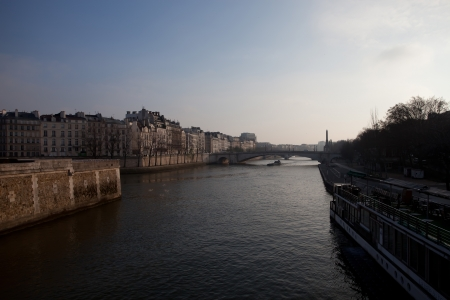 The river Seine in Paris, in a beautiful winter morning Stock Photo - 17580150