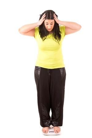 femme inqui�te: Grosse femme tr�s inquiet de son poids