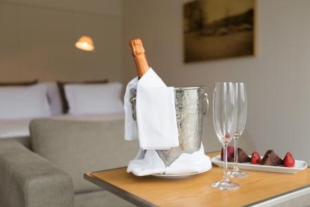 honeymoon suite: Hotel room shot - Honeymoon concept