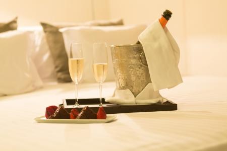 Hotel room shot - Honeymoon concept photo