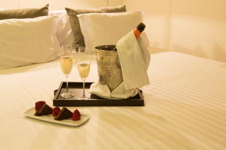 ホテルの部屋のショット - 新婚旅行の概念
