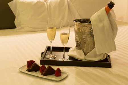 ホテルの部屋のショット - 新婚旅行のコンセプト 写真素材