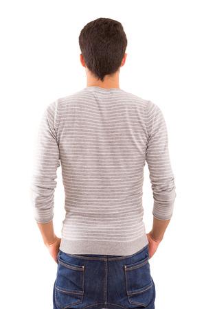 hombres guapos: Hombre joven con la espalda hacia la c�mara