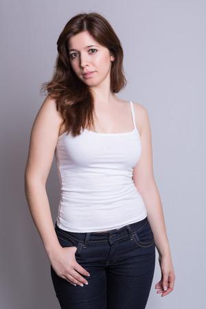 Fashion Photography - Beautiful woman posing in studio photo