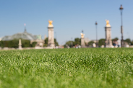 Beautiful garden in Paris located between the Alexander the 3rd Bridge and the Invalides