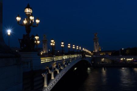 The beautiful Alexander III bridge in Paris