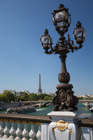 The beautiful Alexander III bridge in Paris