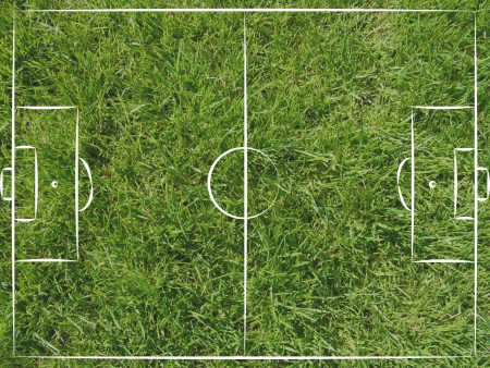 football pitch: football field top view