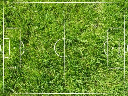 striker: soccer field top view