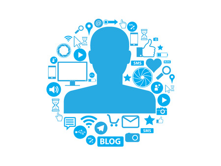 Social media icons 版權商用圖片
