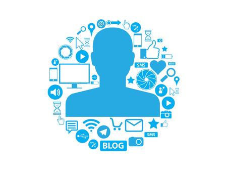 Social media icons Standard-Bild