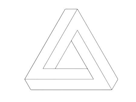 escher: Escher triangle line drawing