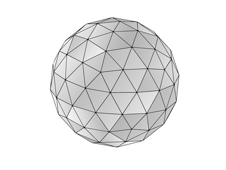 geodesic sphere Standard-Bild