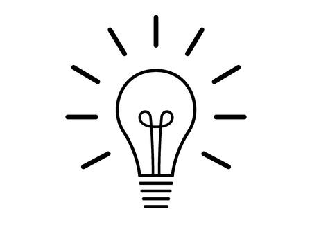 Light bulb idea symbol illustration