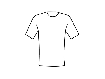 T-shirt white line drawing vector