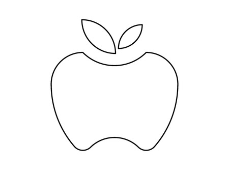 Apple outline Ilustracja