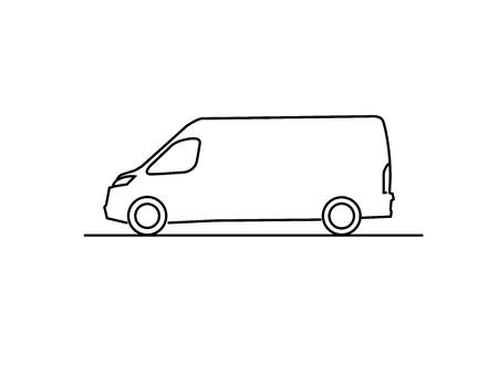 furgoneta ilustracion
