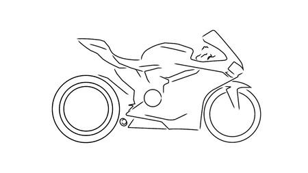 sports motorcycle Vector Illustration