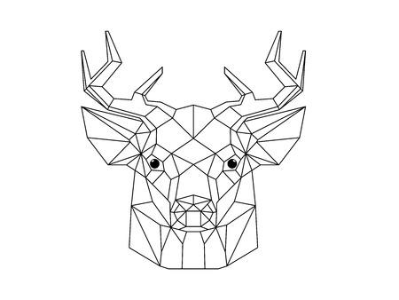 tête de cerf géométrique