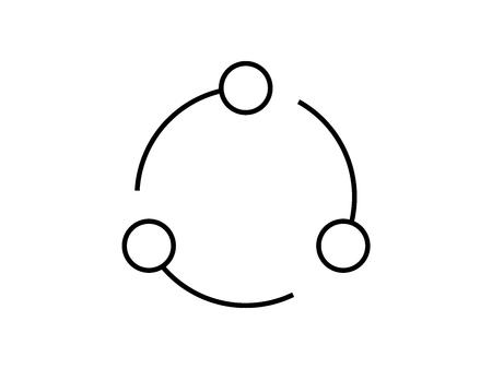 itteration symbol  イラスト・ベクター素材