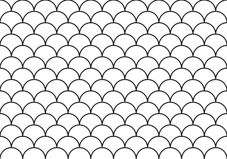 Pattern with half circles