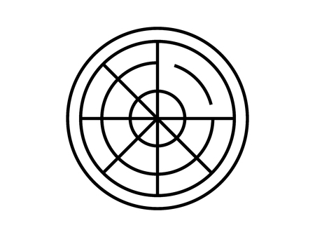 Radar target symbol Çizim