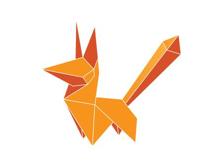 Origami fox vector Векторная Иллюстрация