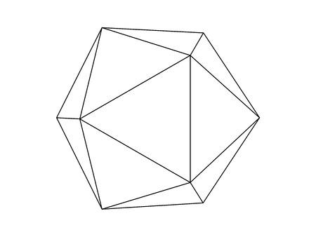 Geodesic sphere line illustration vector Illustration