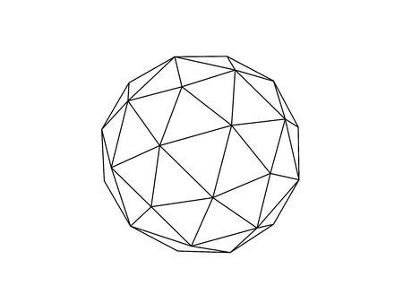 Geodesic sphere line illustration vector 向量圖像