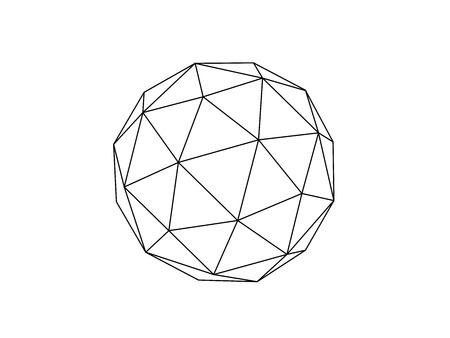 Vettore dell'illustrazione della linea della sfera geodetica Vettoriali