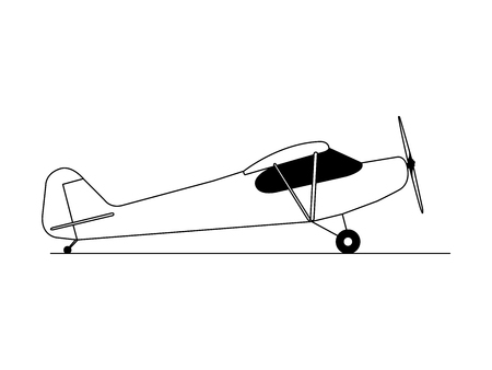 Hobby airplane side view illustration vector