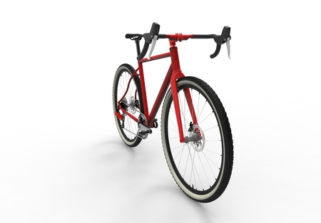 3D illustration of a modern high speed red sports race bicycle Stock Photo