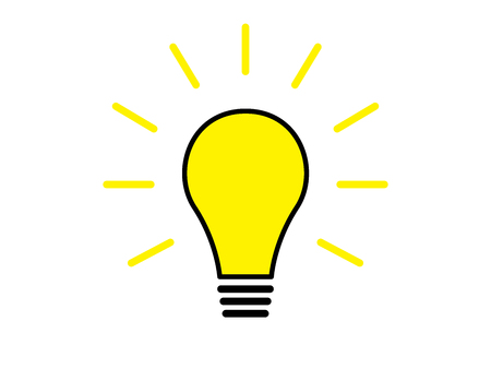 Glühbirne leuchtende Illustration isoliert auf weißem Hintergrund