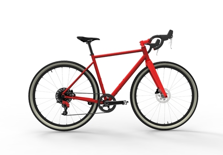 3D illustration of a modern high speed red sports race bicycle 免版税图像