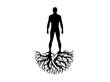 Person roots personality and heritage illustration isolated on white background