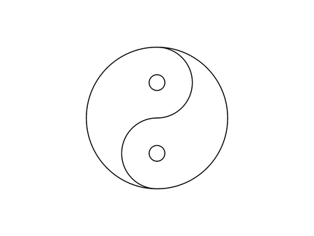 Yin Yang symbol icon vector isolated on white background. Illustration