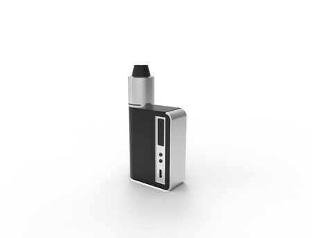 3D rendering of a electronic cigarette isolated in white background