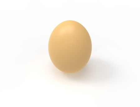 3D rendering of an egg isolated in white background