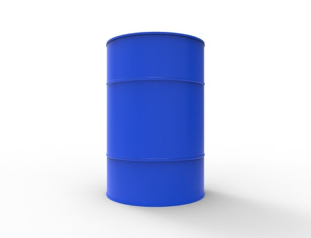3D rendering of oil barrels isolated in white studio background Stock Photo