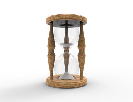 3D rendering of an hour glass isolated on white bacgkround Reklamní fotografie - 124485806