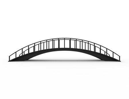 3D rendering of a bridge isolated on white background.