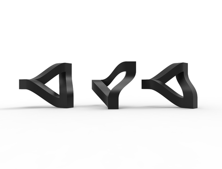 3d rendering of a escher traingle isolated in white studio background.Showing how it really works.