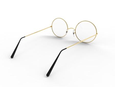3d rendering of glasses isolated in white studio background. Reklamní fotografie