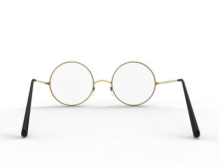 3d rendering of glasses isolated in white studio background. Reklamní fotografie - 124486104